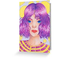 Violetta [Copic and Colored Pencil Semirealistic Portrait] Greeting Card