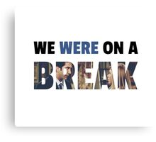 Rachel & Ross - Break Canvas Print