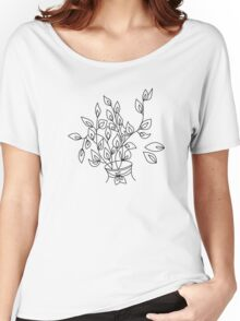 Color-in flower in a Vase Women's Relaxed Fit T-Shirt
