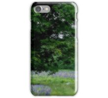 A Childs Walk Among Lupine iPhone Case/Skin