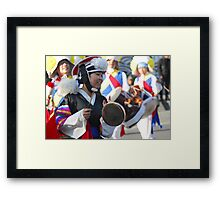 Traditional Korean Band Member 4 Framed Print