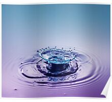 Turquoise Sombrero ~ Water Drops Poster