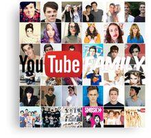Youtube Family <3 Canvas Print