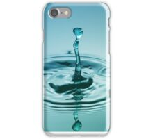 Turquoise Worm ~ Water Drops iPhone Case/Skin