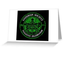 Gozerian Society - Green Slime Variant Greeting Card