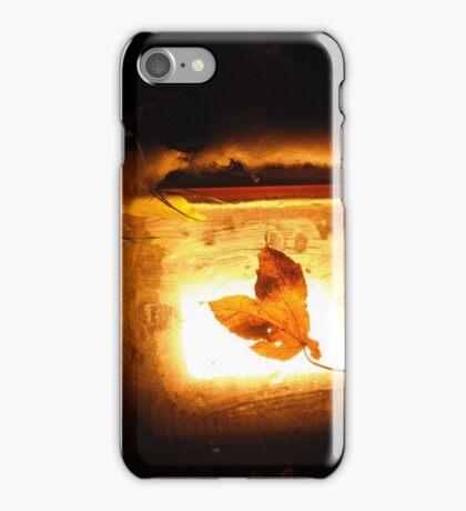 Blatt im Schnee iPhone Case/Skin