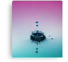 123 Plop ~ Water Drops Canvas Print