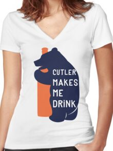 Cutler Makes Me Drink Women's Fitted V-Neck T-Shirt