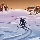 Skiing on Mars by DeetsArt