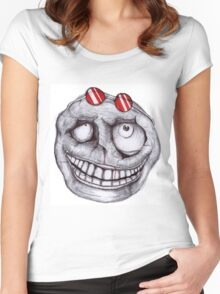 Keep Calm and GRIN Women's Fitted Scoop T-Shirt