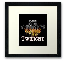 In This Twilight Framed Print