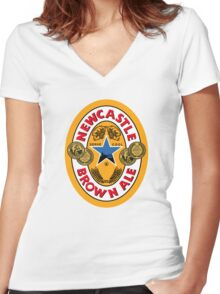 NEWCASTLE BROWN ALE Women's Fitted V-Neck T-Shirt