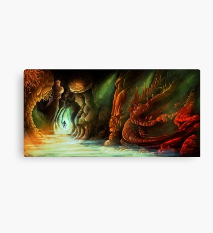 Lost in a Cave Canvas Print
