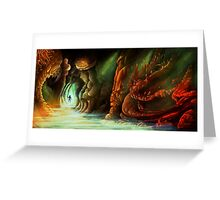 Lost in a Cave Greeting Card