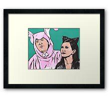 Chandler and Monica Framed Print