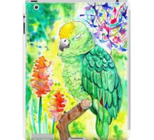 Sleepy Parrot Painting    Watercolor and Ink iPad Case/Skin