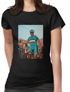 Vincenzo Nibali Painting Womens Fitted T-Shirt
