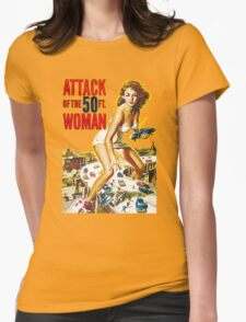 Attack of the Fifty ft. Woman Womens Fitted T-Shirt