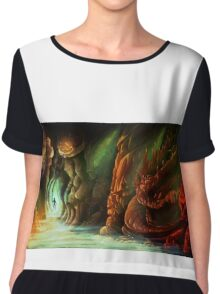 Lost in a Cave Chiffon Top