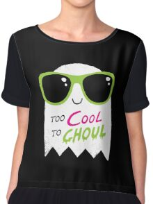 Too Cool To Ghoul Chiffon Top