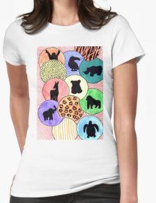 Endangered Animals Womens Fitted T-Shirt