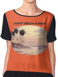 Sunset Beach Tarpon Springs Florida Chiffon Top