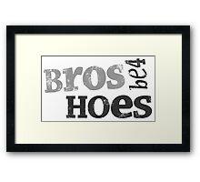 HIMYM - Bros Be4 Hoes Framed Print