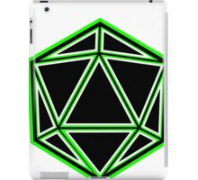 Black and Green d20 iPad Case/Skin