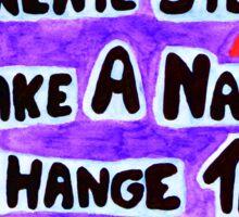 Life Goals Quote Sticker