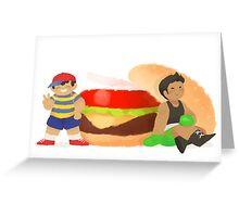 Smash Food - Burger Boys Greeting Card