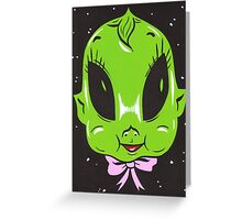 Kewpie Doll Alien Greeting Card