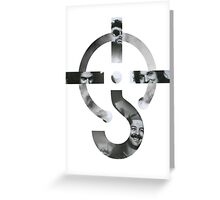 White background Blue Oyster cult Logo Greeting Card