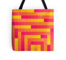 Pink and Yellow Squares Tote Bag