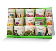 For Spring Planting Greeting Card