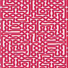 A Celtic Maze in Red by Dennis Melling