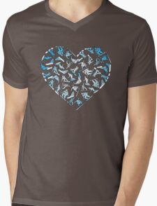In Love With Snowboarding (light) Mens V-Neck T-Shirt