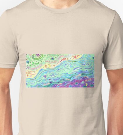 Summer Sunshine Seashore Art Unisex T-Shirt