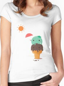 SUMMER ICE CREAM Women's Fitted Scoop T-Shirt