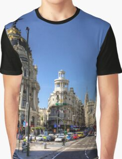 The end of the Calle de Alcalá Graphic T-Shirt