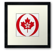 Hong Kong Canadian Multinational Patriot Flag Series Framed Print