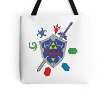 Zelda Inspired Items and Sheild Tote Bag