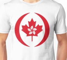 Hong Kong Canadian Multinational Patriot Flag Series Unisex T-Shirt