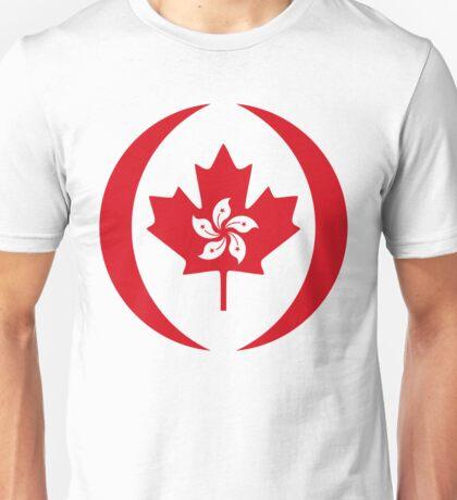 Hong Kong Canadian Multinational Patriot Flag Series Unisex T-Shirt