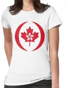 Hong Kong Canadian Multinational Patriot Flag Series Womens Fitted T-Shirt