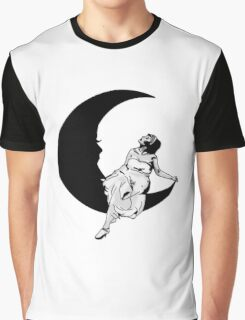 Lady in the Moon Graphic T-Shirt