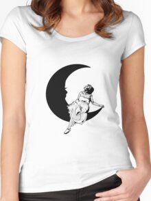 Lady in the Moon Women's Fitted Scoop T-Shirt