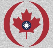 Taiwanese Canadian Multinational Patriot Flag Series One Piece - Long Sleeve