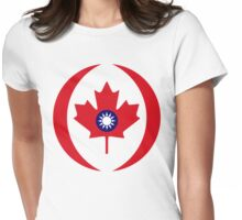 Taiwanese Canadian Multinational Patriot Flag Series Womens Fitted T-Shirt