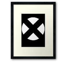 X Men - White Framed Print