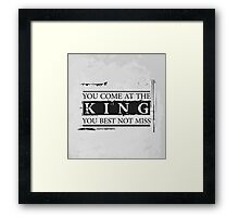 """You Come at the King, You Best Not Miss"" - The Wire (Dark) Framed Print"